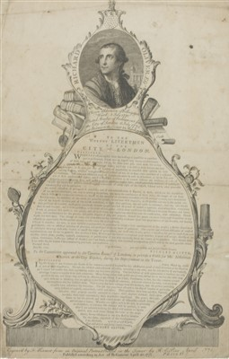 Lot 21-FROM RICHARD OLIVER ESQ. TO THE WORTHY LIVERYMEN OF THE CITY OF LONDON