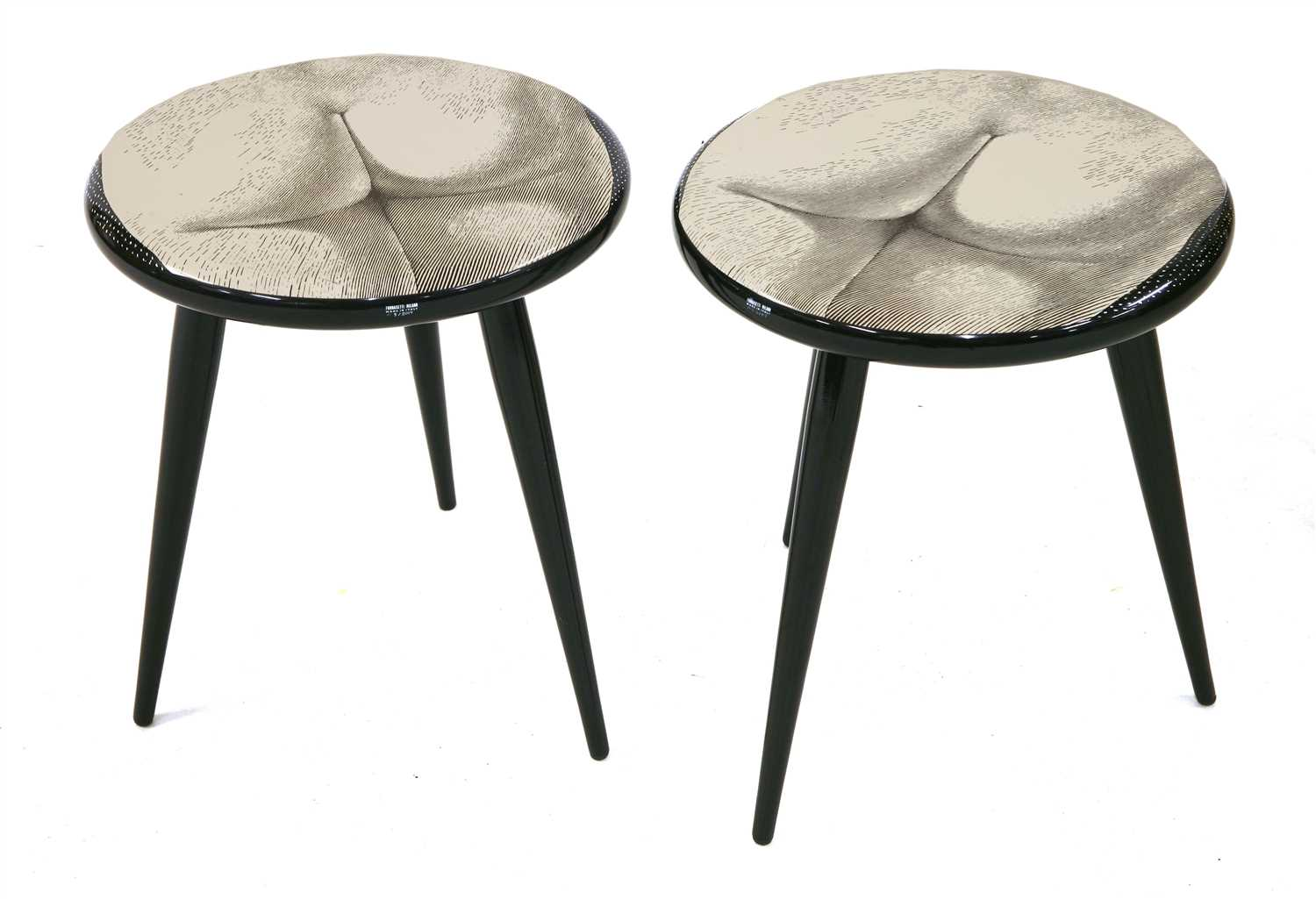 Lot 465-A pair of 'Tergonomico' low stools