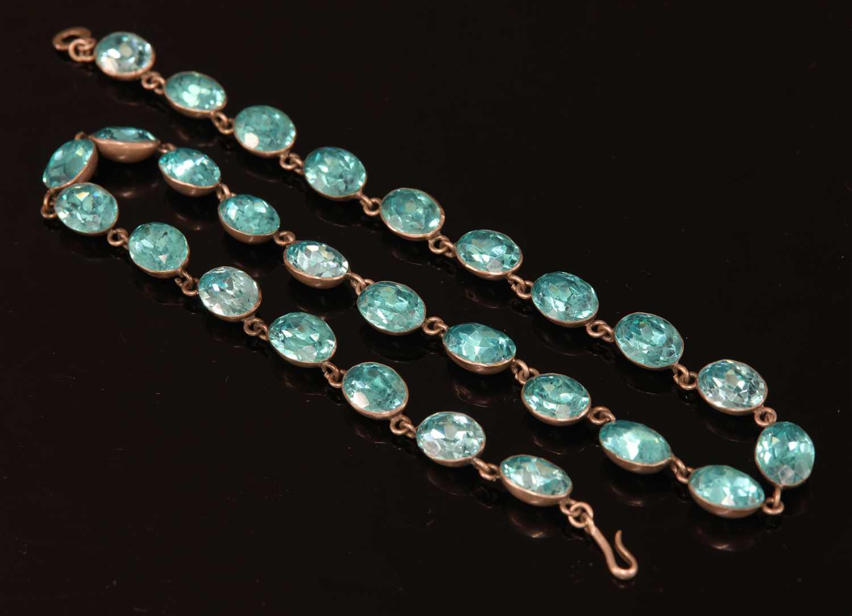 Lot 16-A Georgian white metal paste rivière necklace, c.1800-1820