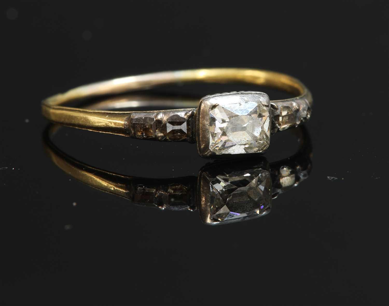 Lot 23-A Georgian single stone diamond ring