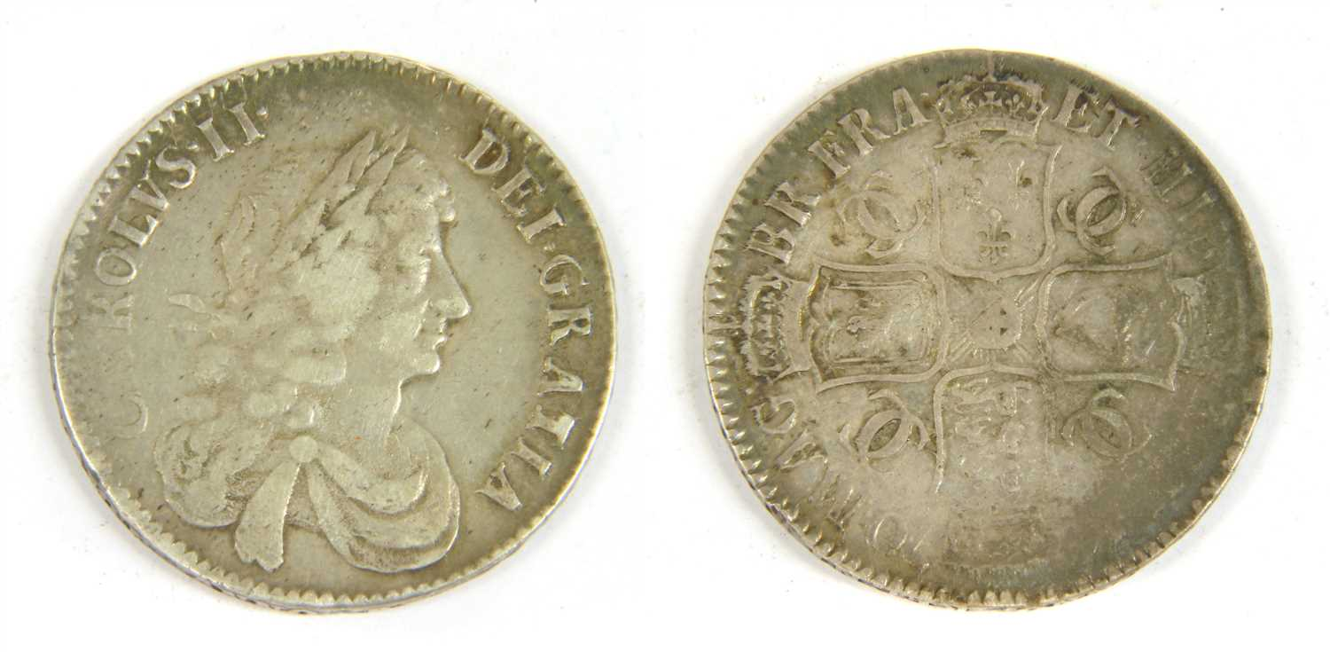 Lot 3-Coins, Great Britain, Charles II (1660-1685)