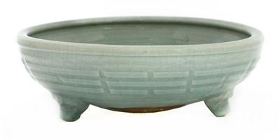 Lot 8-A Chinese celadon tripod censer