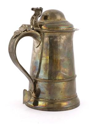 Lot 6-A George III silver tankard
