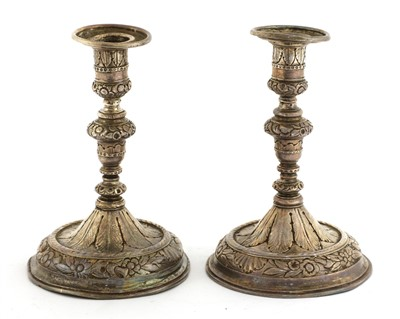 Lot 26 - A pair of silver taper sticks