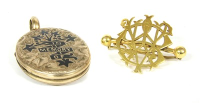 Lot 13-A front and back memorial locket