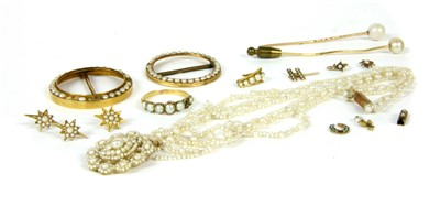 Lot 9-A quantity of pearl jewellery