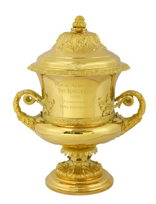 Lot 11-A silver gilt flying trophy 'The King's Cup'