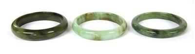 Lot 24-Three jade bangles