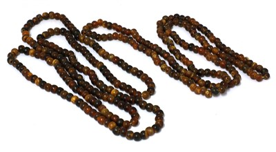 Lot 85 - Two horn beaded necklaces