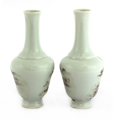 Lot 301-Two Chinese porcelain vases