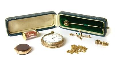 Lot 16-A cased single stone diamond stick pin