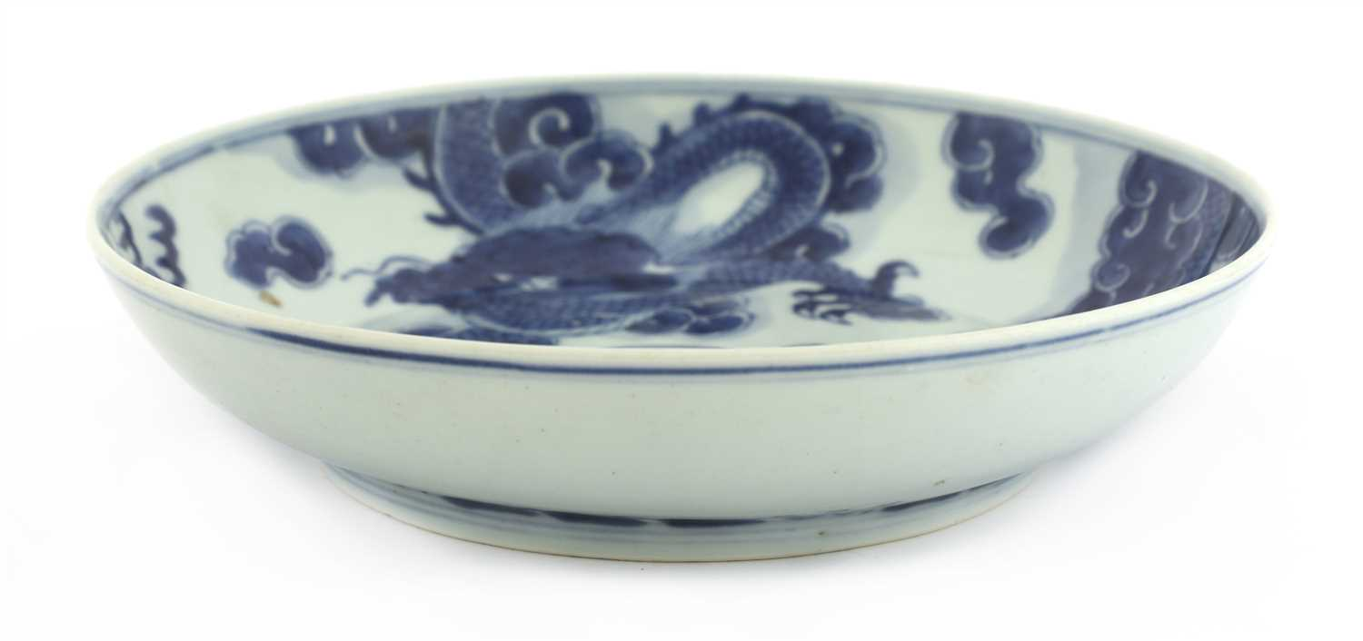 A Chinese blue and white plate,