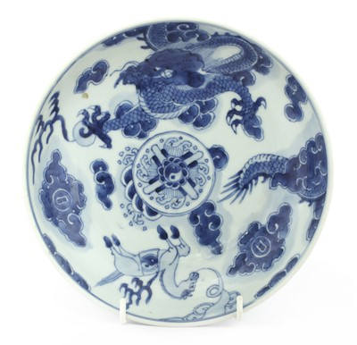 Lot 25-A Chinese blue and white plate