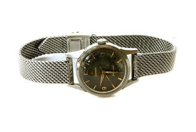 Lot 22-A ladies stainless steel automatic Omega Ladymatic watch