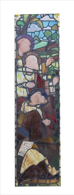 Lot 14 - A stained and leaded glass window