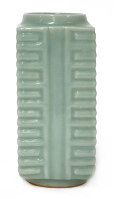 Lot 9-A Chinese Longquan celadon cong vase
