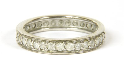 Lot 19-A 9ct white gold diamond eternity ring