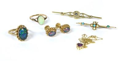 Lot 11-An assortment of gold jewellery