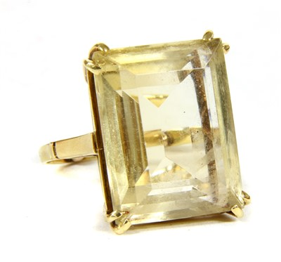Lot 6-A gold single stone citrine ring