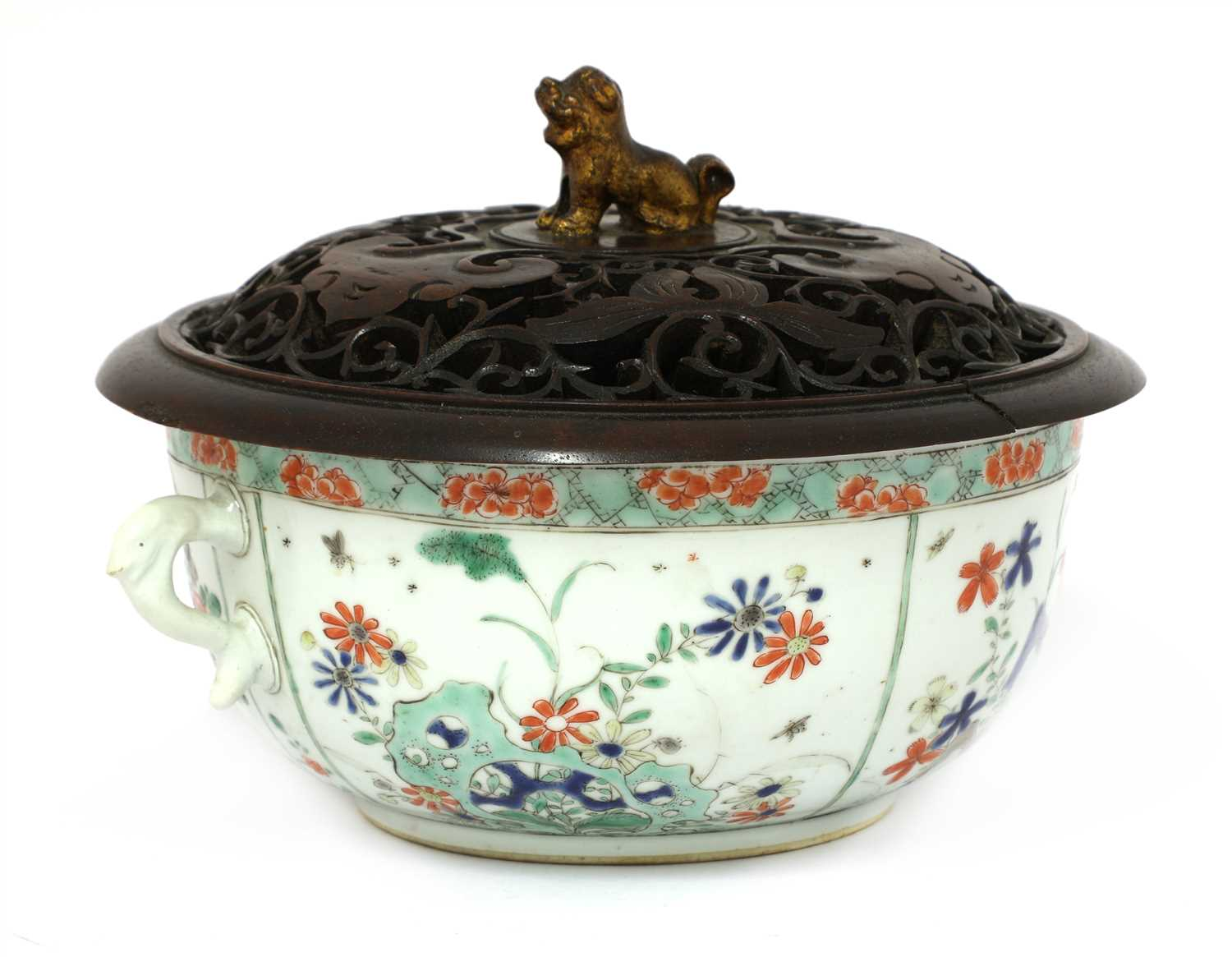 A Chinese famille verte bowl,