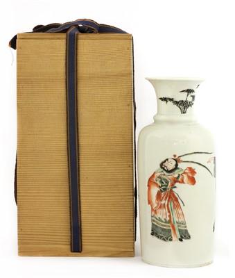 Lot 23-A Chinese famille verte vase