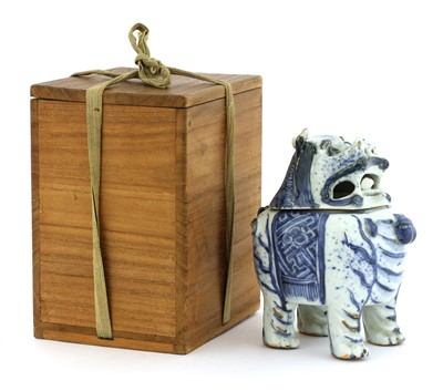 Lot 5-A Chinese blue and white incense burner