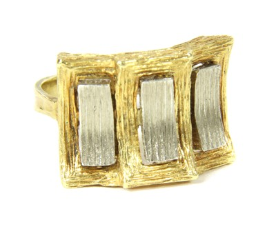 Lot 7-A 1970s 18ct two colour gold dress ring