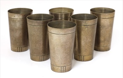 Lot 248 - A set of six Gorham sterling silver drinking cups