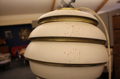Lot 232 - A pair of A331 Beehive pendant lamps