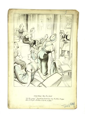 Lot 5-*JOSEPH LEE WW2 'SMILING THROUGH' CARTOON