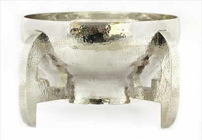 Lot 25-An Arts & Crafts silver mether bowl