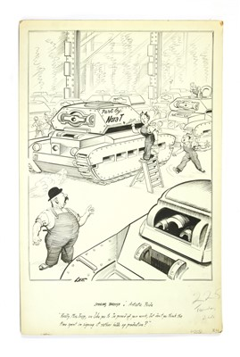 Lot 6-*JOSEPH LEE WW2 'SMILING THROUGH' CARTOON