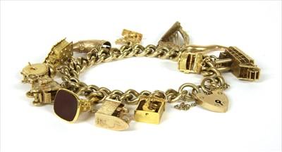 Lot 11-A 9ct gold curb bracelet