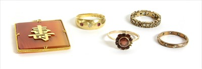 Lot 7-A quantity of gold jewellery