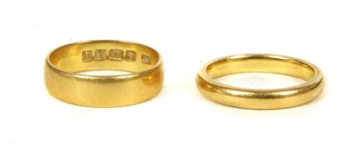 Lot 15-Two 22ct gold wedding rings