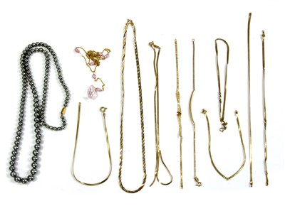 Lot 1005-A quantity of gold jewellery