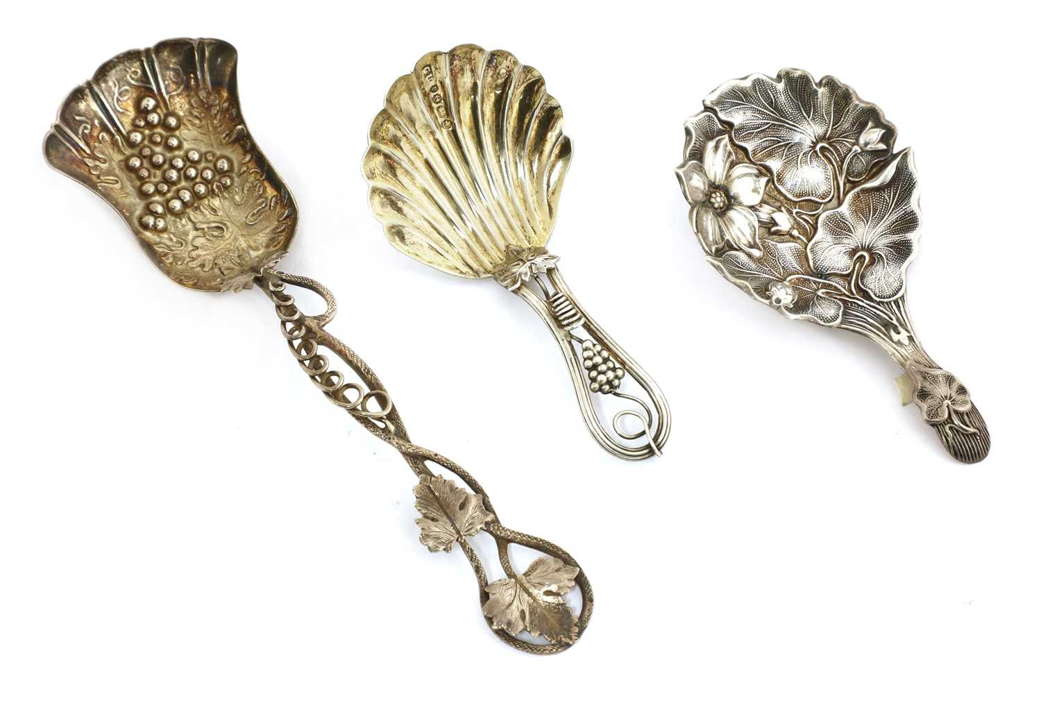 Lot 24-A Victorian silver caddy spoon