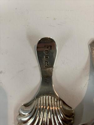 Lot 21-A silver caddy spoon