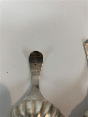 Lot 16-A George III silver caddy spoon