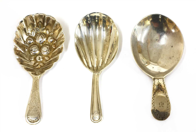 Lot 17-A George III silver caddy spoon