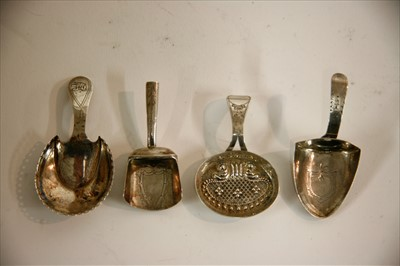 Lot 14-A George III silver caddy shovel