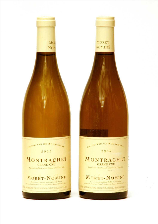 Lot 6-Moret-Nominé, Montrachet Grand Cru, 2005, two bottles