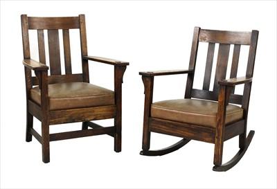 Lot 89 - An Arts & Crafts oak armchair