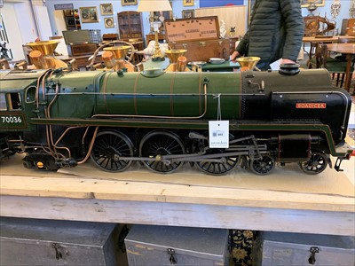 Lot 603-A 5in gauge live steam model of the Britannia Class 4-6-2 locomotive and tender 'Boadicea' no.70036