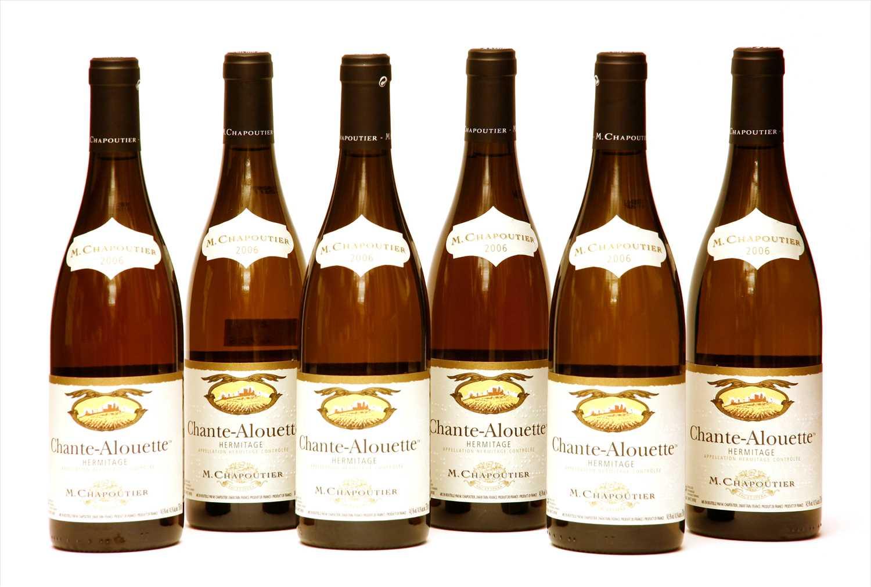 Lot 8-M. Chapoutier, Chante Alouette Hermitage, 2006, six bottles (boxed)
