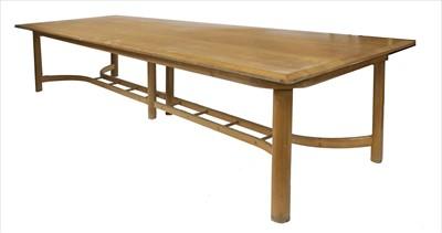 Lot 95 - An oak refectory table