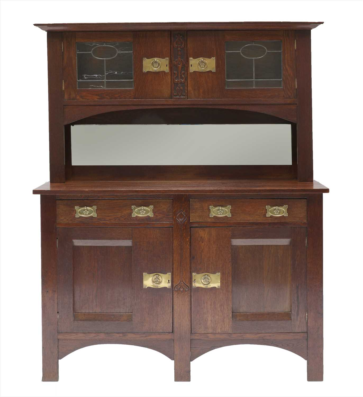 Lot 17-An Arts & Crafts oak cabinet
