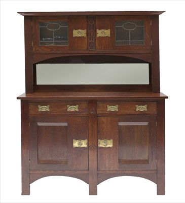 Lot 17-An Arts & Crafts oak cabinet