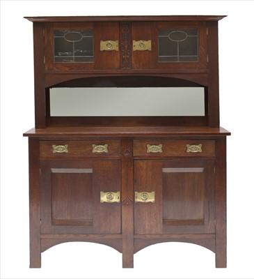 Lot 17 - An Arts & Crafts oak cabinet