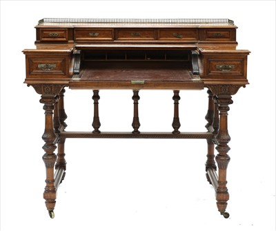 Lot 2-A mahogany writing desk
